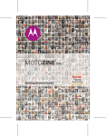 Motorola Moto Zine ZN5 User`s guide