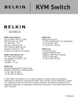 Belkin F1DK102U - KVM Switch With Cabling User guide