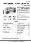 Sharp CD-DH790N Service manual