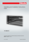 Miele H6560B Operating instructions