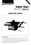 Makita ARBOR 2711 Instruction manual