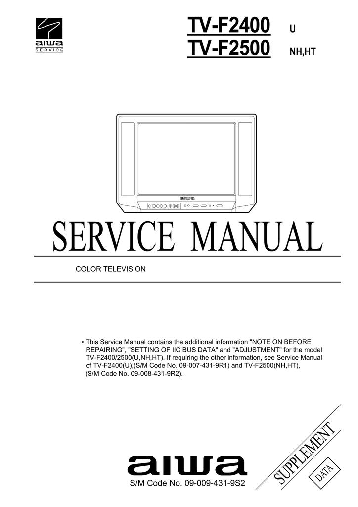 aiwa tv f2500 service manual rh manualzilla com