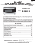 Sharp R-510HW - 1200 Watt Full Size Microwave Service manual