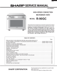 Sharp R-90GC Service manual