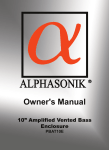 Alphasonik PBAT10E Owner`s manual