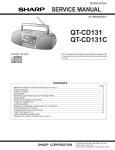 Sharp QT-CD131H Service manual