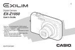 Casio EX Z1050 - EXILIM ZOOM Digital Camera User`s guide