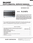 Sharp R-216FS Service manual