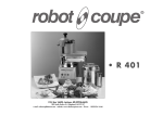 Robot Coupe R 401 Series A Operating instructions