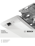 Bosch SHX7ER55UC Operating instructions