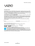 Vizio E322VL User manual