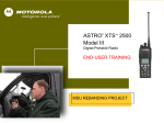 Motorola ASTRO XTS 2500I User manual