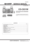 Sharp CD-C831W Service manual