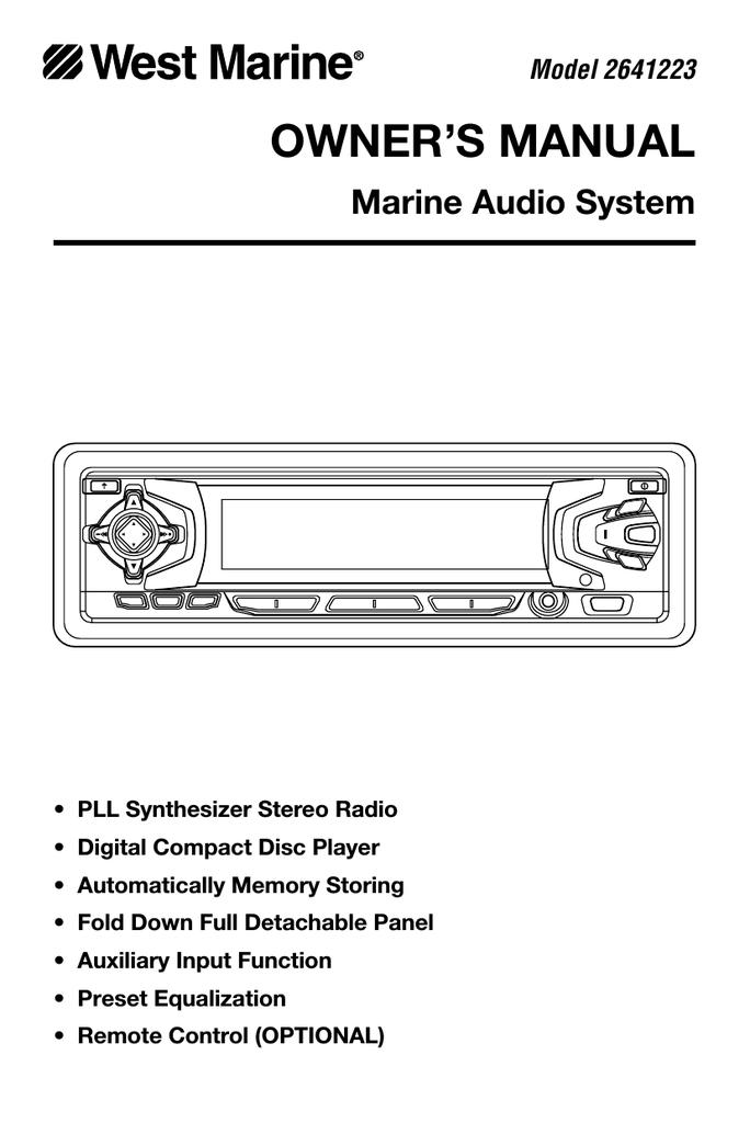 West Marine 2641223 Owner`s manual