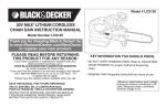 Black & Decker LCS120 Instruction manual