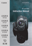 Canon LEGRIA HF R26 Instruction manual