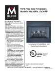 Majestic fireplaces UV36RN Operating instructions