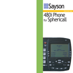 Sayson 480i User guide