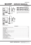 Sharp MD-MT831H Service manual