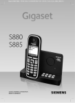 Siemens Gigaset S880 User guide