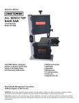 Craftsman 124.3299 Operator`s manual
