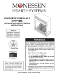 Monessen Hearth DFS42PVC Operating instructions