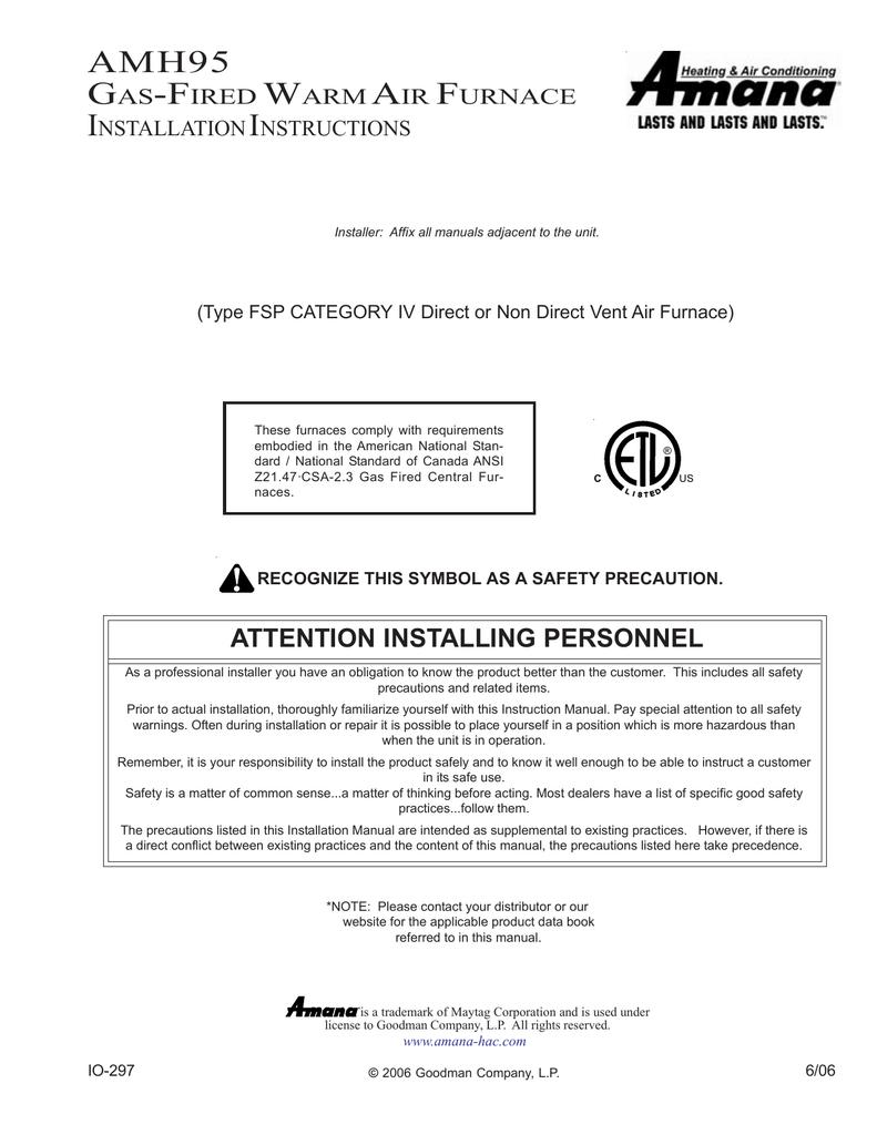 Amana amh95 instruction manual publicscrutiny Choice Image