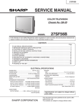 Sharp 27SF56B Service manual