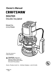 Craftsman 315.275 Owner`s manual