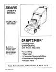 Craftsman 987.799601 Owner`s manual