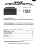 Sharp R-402JW Service manual