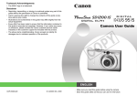 Canon Powershot SD1200 IS User guide