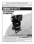 Central Pneumatic 61489 Owner`s manual