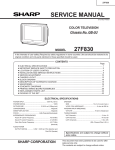 Sharp 27F830 Service manual