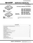 Sharp MD-MT80W Service manual