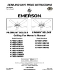 Emerson CF4801SW00 Owner`s manual