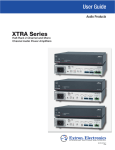 Extron electronics XPA 1002 User guide