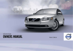 Volvo 2010 S40 Owner`s manual