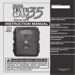 Primos Truth Cam 35 63010 Operating instructions