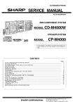 Sharp CD-M4000W Service manual
