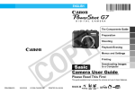 Canon PowerShot G7 User guide