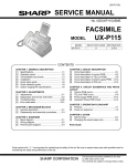 Sharp UX-144 Service manual