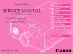 Canon LV-7105 Service manual
