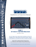Broadcast Tools ProMix 12 Specifications