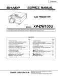 Sharp XV-DW100U Service manual