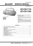 Sharp QT-CD110H Service manual