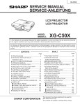 Sharp XG-C50X Service manual