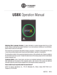 Crown USBX Instruction manual