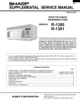 R-1380 R-1381 SUPPLEMENTAL SERVICE MANUAL